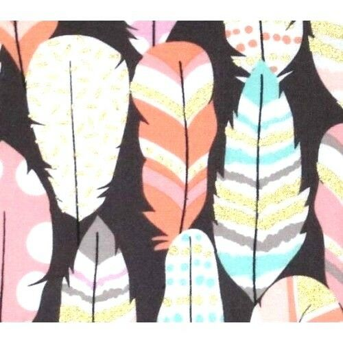 FEATHERS Fabric Fat Quarter Cotton Craft Quilting DREAM CATCHER Plucked