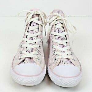 bf8ffbf5e79 Converse Womens All Star Chuck Taylor Pink High Tops Mesh Textile ...