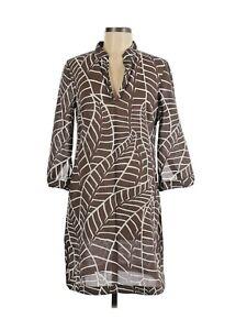 Tory Burch Women's Striped Cotton Tunic Beachwear Dress Swim Cover-Up Size 6