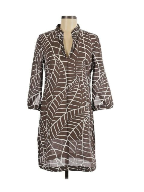 Tory Burch Women's Striped Cotton Tunic Beachwear Dress Swim Cover-Up Size 6