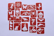 100 Piece - Maybel's Glitter Tattoo Stencil Pack
