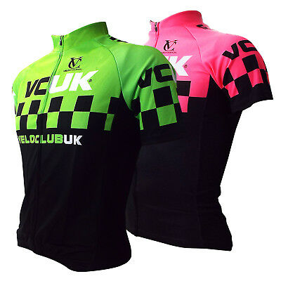 Men's Clothing Careful Mens Womens Veloclub Short Sleeve Jersey Race Cycling Bike Hi Viz Running Uk Matching In Colour Jerseys