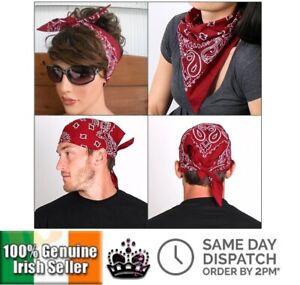 Paisley-Bandana-Square-Neck-Scarf-Headband-Wristband-Retro-Head-Wrap-Hair-Band