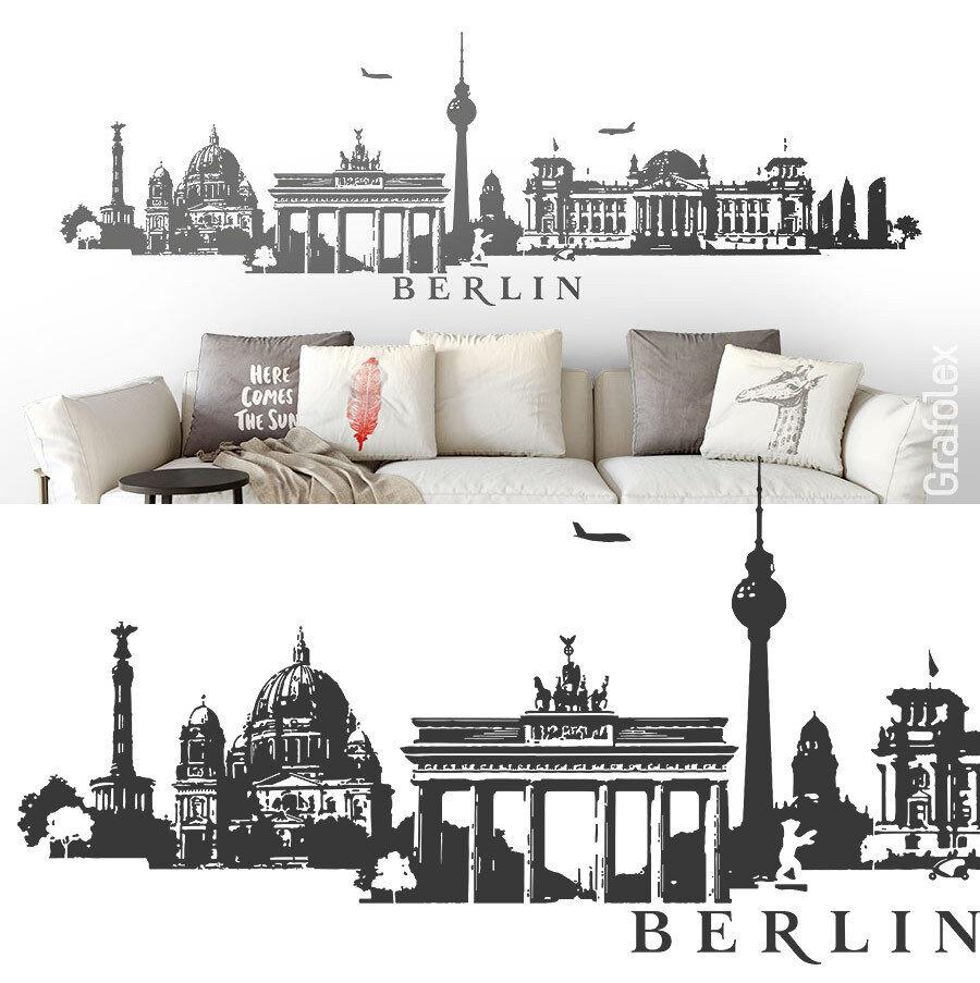 Berlín panorama skyline murales parojo Sticker Adhesivo de parojo Sticker decorativas w115