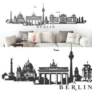 Das Bild Wird Geladen Berlin Skyline Wandtattoo Wandaufkleber Wandsticker  Wand Aufkleber Sticker