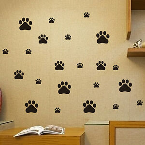 New-Cute-Art-Dog-Cat-Paw-Shape-Prints-PVC-Wall-Car-Sticker-Home-Room-Decal-Decor