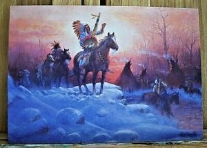 Leanin Tree Christmas Cards.Details About Native American Indian Christmas Cards Leanin Tree Christmas Card