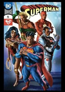 SUPERMAN-75-GREG-HORN-VARIANT-NM-WONDER-WOMAN-FLASH-AQUAMAN-CYBORG-JUSTICE-DC