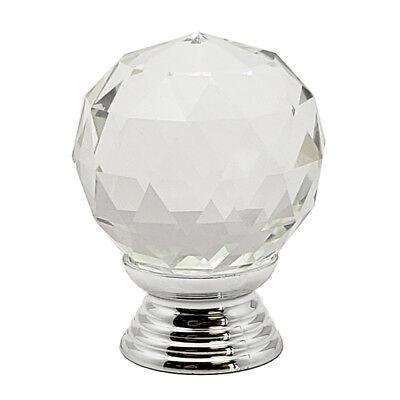 6X//12X 30mm Crystal Glass Kitchen Cupboard Cabinet Door Drawer Knobs Handle HL11
