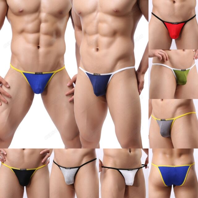 Brand Men's Modal Sexy Mini Briefs Comfortable G-string Underwear M L XL NK30