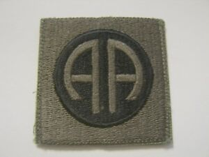 82nd airborne division patch subdued color with hook loop material nos ebay ebay