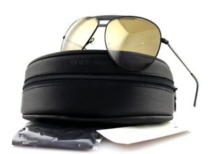 5a789650157d Image is loading NEW-EMPORIO-ARMANI-Matte-Black-Gold-Mirror-Metal-