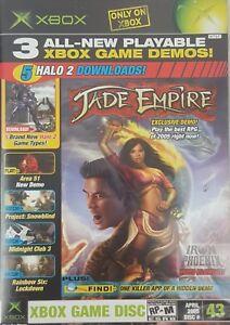 XBOX-OFFICIAL-MAGAZINE-GAME-DEMO-DISC-W-CASE-APR-2005-43-JADE-EMPIRE-HALO-2