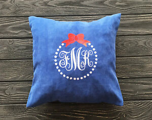 Image Is Loading Monogram Pillow Covers Initials Pillowcase Personalized