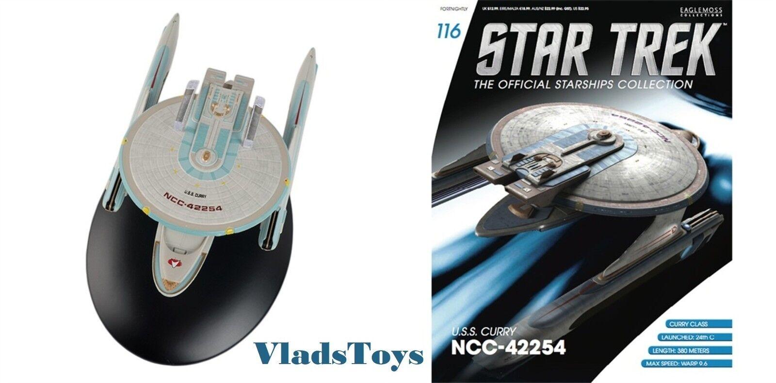 Eaglemoss Star Trek USS Curry NCC-42254 Starship with Magazine