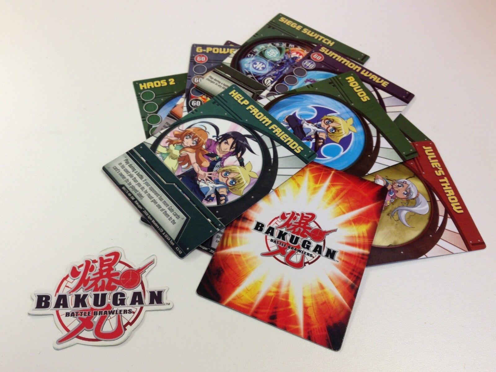 Bakugan slåss Brawlers - 3x Random Lösa Kort - Ny