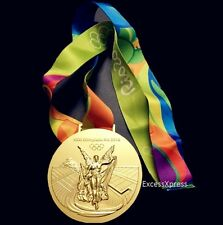 New 2016 RIO OLYMPIC SOUVENIR MEDAL W/RIBBON - GOLD - Collectable