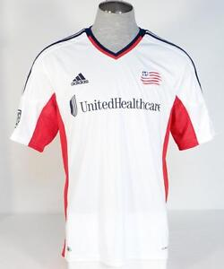 Image is loading Adidas-ClimaCool-MLS-New-England-Revolution-White-Short- e524e5fb9
