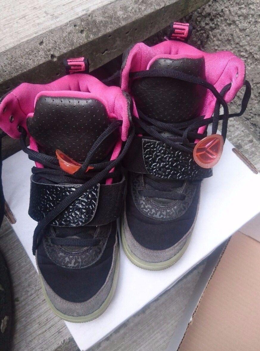 Nike Air Yeezy Black Pink Blink Solar Sz 7 Kanye West