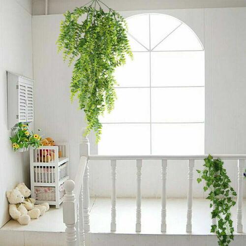 Artificial Green Plants Home Garden Decor Wall Hanging Fake Fern Succulent Plant