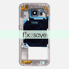 Samsung Galaxy S6 G920V G920P Back Mid Frame Housing Camera Lens + Parts