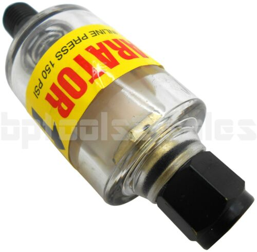 "AIR OIL /& WATER SEPARATOR TRAP FILTER SEPARATOR 1//4/"" NPT AIR CLEANING 150PSI"