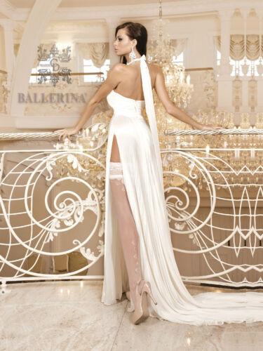 Halterlose Strümpfe weiß von Ballerina Nr 255 S M L XL Hochzeits Braut Dessous