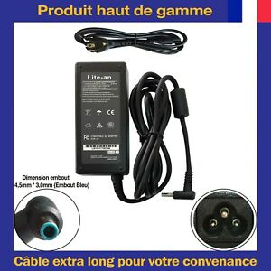 Cargador-de-alimentacion-19-5V-3-33A-65W-Pin-Azul-Para-PC-PC-portatil-HP