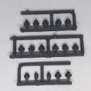 Warhammer 40K Space marine tactical squad heads x16 random