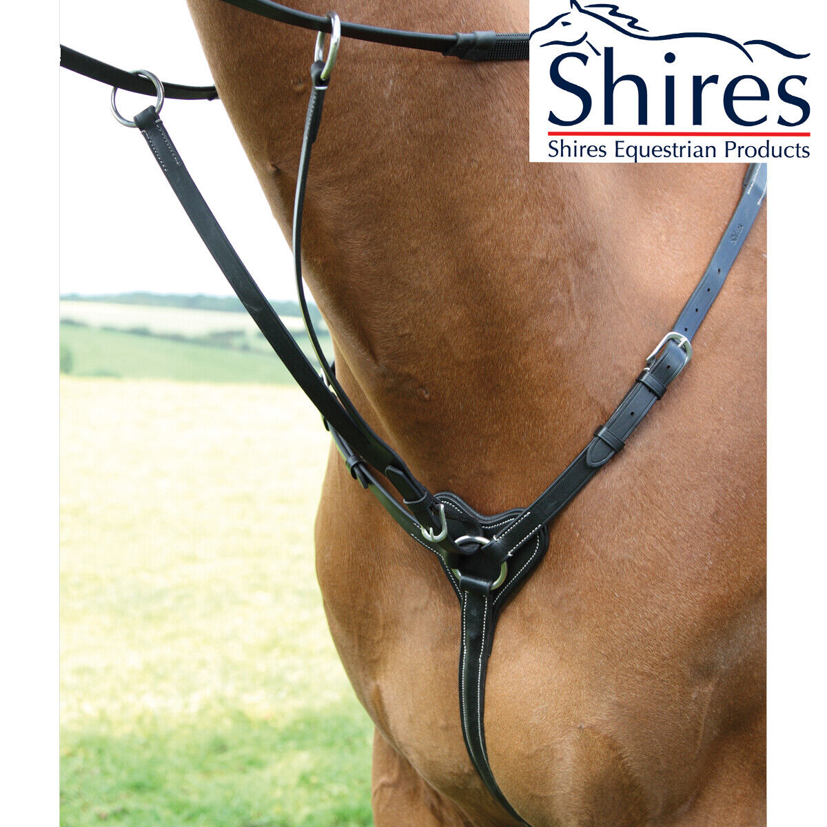 Shires Salisbury Three 3 Point Breastplate