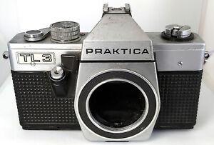 Praktica Pentacon TL3 FOTOCAMERA REFLEX 35mm German GDR M42-Pezzi di ricambio o riparazione