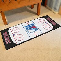 York Rangers 30 X 72 Hockey Rink Runner Area Rug Floor Mat