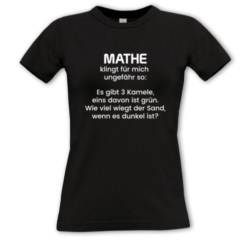malvagia Shirt-UNI SCUOLA ABI concer alunni La matematica suona per me all/'incirca così..