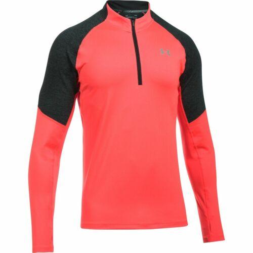 Pink New Large Under Armour UA Men/'s Threadborne Run 1//4 Zip Top