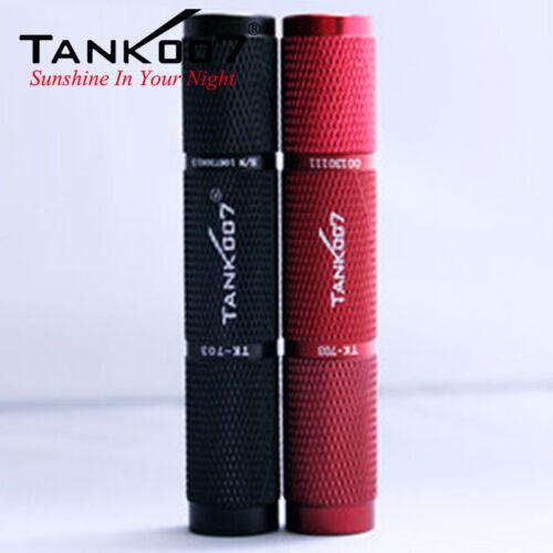 TANK007 TK703 Mini Portable Aluminum Alloy LED Flashlight Camping Torch