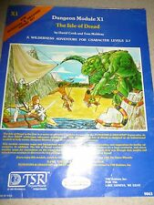 Vtg D&D DUNGEONS DRAGONS MODULE X1 #9043 ISLE OF DREAD EXPERT SET BOOK 1980