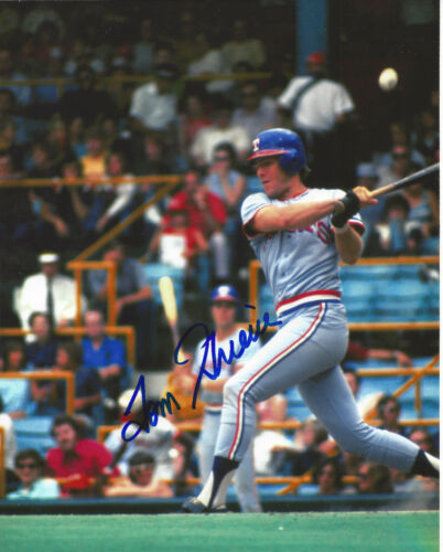 Tom Grieve #2 autographed 8x10 Texas Rangers Free Shipping