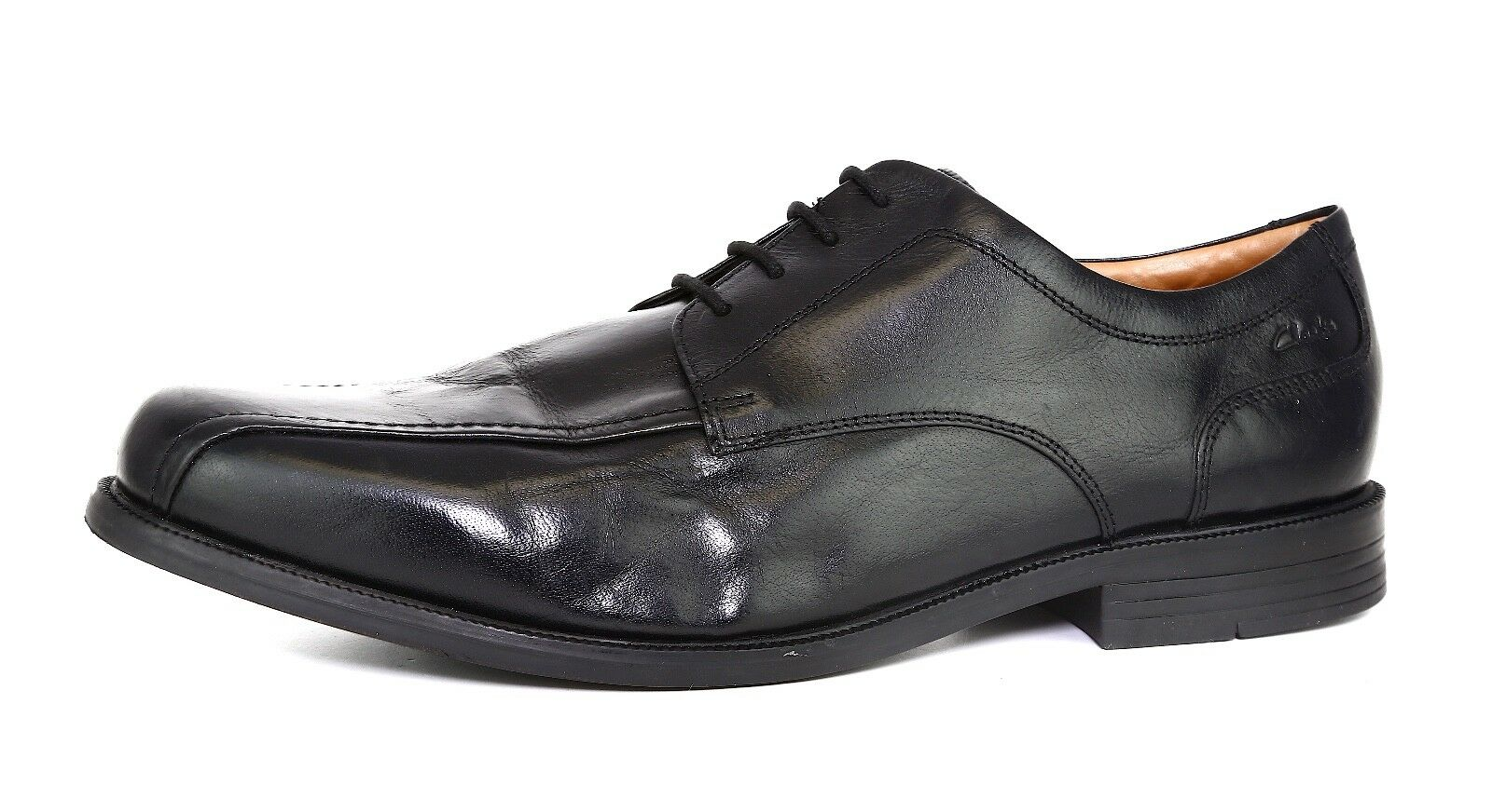 Clarks Beeston Stride Leather Oxford Black Men Sz 14 1268