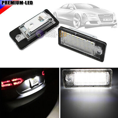 CAN-bus White Error Free LED License Plate Light Lamp For Audi A3 A4 A6 S6 A8 Q7