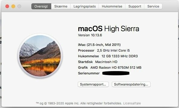 iMac, Mid 2011, i5 2.5 GHz
