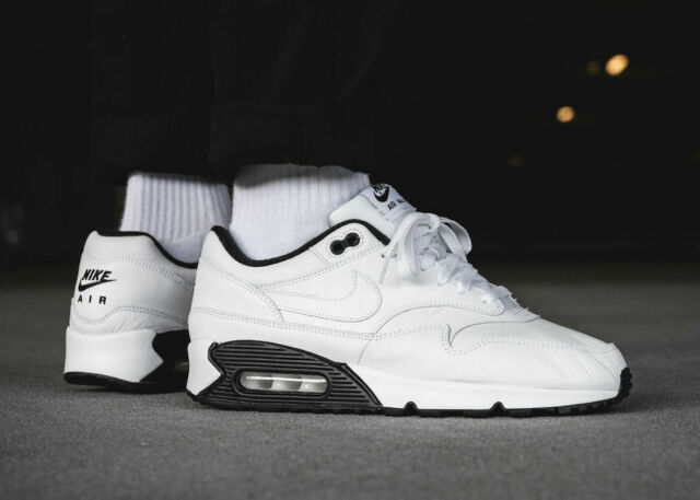 Nike Air Max 90 Leather Grey White Mens Trainers Sale UK