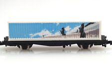 Marklin Z-scale metal flat car with a Easter Island container Special Edition