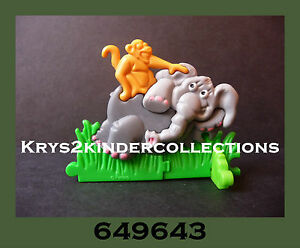 Jouet kinder Puzzle 3D Animaux Eléphant tête gris clair 649643 Allemagne 1994 Bfj50mAH-09165828-261562866