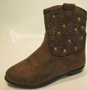 Girls Spot On H4086 Synthetic Zip Up Boots