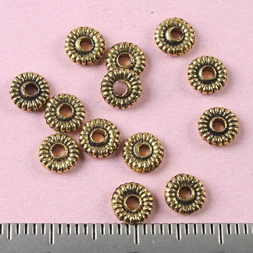 250pcs Dark Gold-Tone Fleur Spacer Perles h1352