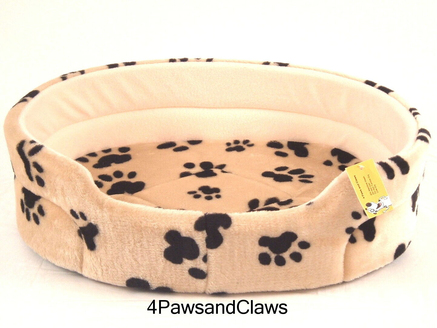 THREE LUXURY DOG CAT BED'S 22,24,and 27  BEIGE