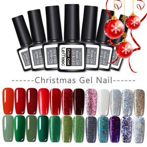 Christmas-UV-Nail-Gellack-Polish-Glitter-Soak-Off-Varnish-Red-Green-UV-LED-8ml