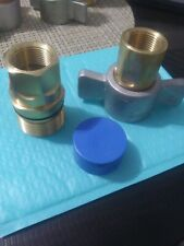 New Listing1 Set Of 1 Wet Line Hydraulic Quick Couplers Thread Together Wing Nut Style