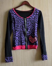 Gilet léopard goth rock cardigan rockabilly pink punk leo hot topic