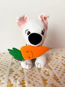 Disney Bolt Dog Takara Tomy Plush Toy Stuffed Animal Removable Carrot NEW In Bag